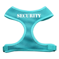 Mirage Pet Products Security Design Soft Mesh Harnesses Aqua Large