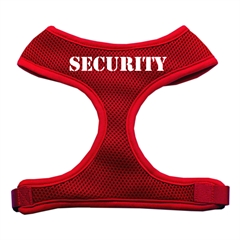 Mirage Pet Products Security Design Soft Mesh Harnesses Red Medium