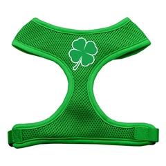 Mirage Pet Products Shamrock Screen Print Soft Mesh Harness Emerald Green Medium
