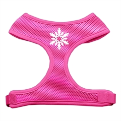 Mirage Pet Products Snowflake Design Soft Mesh Harnesses Pink Small