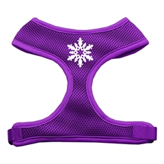 Mirage Pet Products Snowflake Design Soft Mesh Harnesses Purple Large