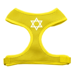 Mirage Pet Products Star of David Screen Print Soft Mesh Harness Yellow Medium