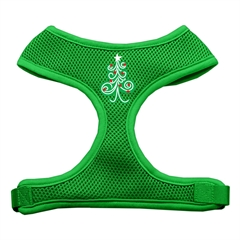Mirage Pet Products Swirly Christmas Tree Screen Print Soft Mesh Harness Emerald Green Small