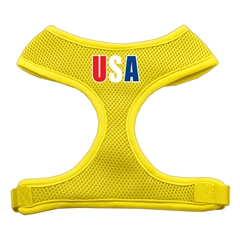 Mirage Pet Products USA Star Screen Print Soft Mesh Harness Yellow Extra Large
