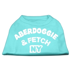Mirage Pet Products Aberdoggie NY Screenprint Shirts Aqua XXL (18)