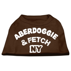 Mirage Pet Products Aberdoggie NY Screenprint Shirts Brown XXL (18)