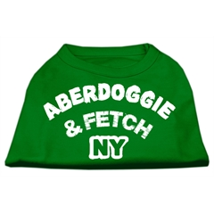 Mirage Pet Products Aberdoggie NY Screenprint Shirts Emerald Green Lg (14)