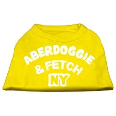 Mirage Pet Products Aberdoggie NY Screenprint Shirts Yellow Lg (14)
