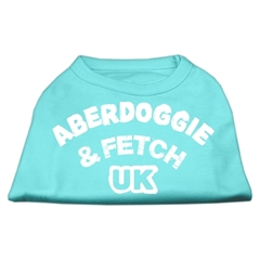 Mirage Pet Products Aberdoggie UK Screenprint Shirts Aqua XL (16)