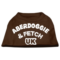 Mirage Pet Products Aberdoggie UK Screenprint Shirts Brown Sm (10)