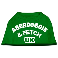 Mirage Pet Products Aberdoggie UK Screenprint Shirts Emerald Green Lg (14)