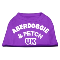Mirage Pet Products Aberdoggie UK Screenprint Shirts Purple Med (12)