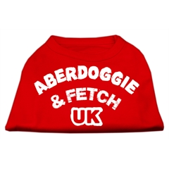 Mirage Pet Products Aberdoggie UK Screenprint Shirts Red Med (12)