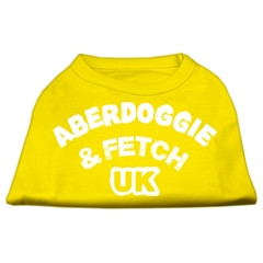 Mirage Pet Products Aberdoggie UK Screenprint Shirts Yellow XL (16)