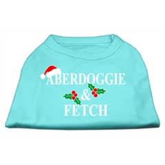 Mirage Pet Products Aberdoggie Christmas Screen Print Shirt Aqua M (12)