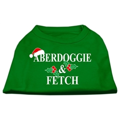 Mirage Pet Products Aberdoggie Christmas Screen Print Shirt Emerald Green Lg (14)