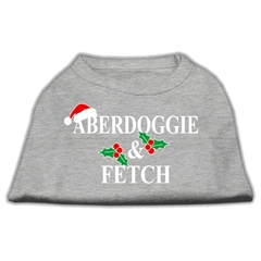 Mirage Pet Products Aberdoggie Christmas Screen Print Shirt Grey XXL (18)