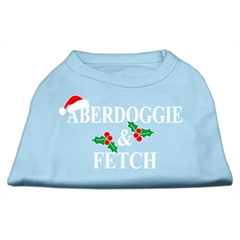 Mirage Pet Products Aberdoggie Christmas Screen Print Shirt Baby Blue XXXL(20)