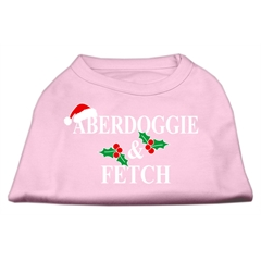 Mirage Pet Products Aberdoggie Christmas Screen Print Shirt Light Pink L (14)