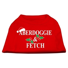 Mirage Pet Products Aberdoggie Christmas Screen Print Shirt Red S (10)