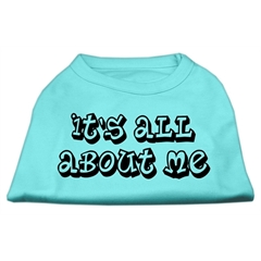 Mirage Pet Products It's All About Me Screen Print Shirts Aqua Sm (10)