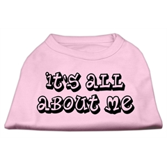 Mirage Pet Products It's All About Me Screen Print Shirts Light Pink XXL (18)