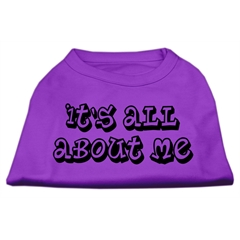 Mirage Pet Products It's All About Me Screen Print Shirts Purple XL (16)