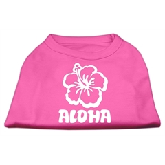 Mirage Pet Products Aloha Flower Screen Print Shirt Bright Pink Med (12)