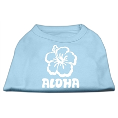 Mirage Pet Products Aloha Flower Screen Print Shirt Baby Blue Lg (14)