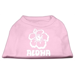 Mirage Pet Products Aloha Flower Screen Print Shirt Light Pink Lg (14)