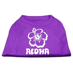 Mirage Pet Products Aloha Flower Screen Print Shirt Purple XS (8)