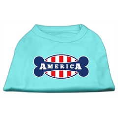 Mirage Pet Products Bonely in America Screen Print Shirt Aqua XXXL (20)