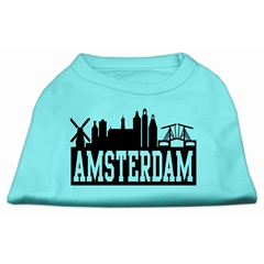 Mirage Pet Products Amsterdam Skyline Screen Print Shirt Aqua XS (8)