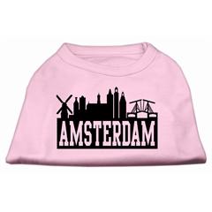 Mirage Pet Products Amsterdam Skyline Screen Print Shirt Light Pink Med (12)