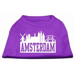 Mirage Pet Products Amsterdam Skyline Screen Print Shirt Purple XXL (18)