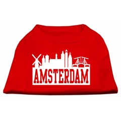 Mirage Pet Products Amsterdam Skyline Screen Print Shirt Red Lg (14)