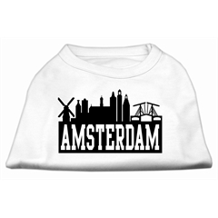 Mirage Pet Products Amsterdam Skyline Screen Print Shirt White Lg (14)