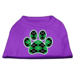 Mirage Pet Products Argyle Paw Green Screen Print Shirt Purple XL (16)