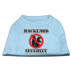 Mirage Pet Products Backyard Security Screen Print Shirts Baby Blue S (10)