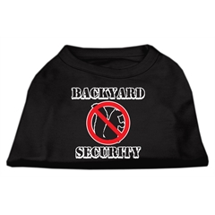 Mirage Pet Products Backyard Security Screen Print Shirts Black XXXL(20)