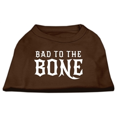 Mirage Pet Products Bad to the Bone Dog Shirt Brown XS (8)