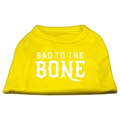 Mirage Pet Products Bad to the Bone Dog Shirt Yellow Sm (10)