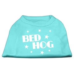 Mirage Pet Products Bed Hog Screen Printed Shirt  Aqua Lg (14)