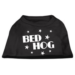 Mirage Pet Products Bed Hog Screen Printed Shirt  Black  XXL (18)