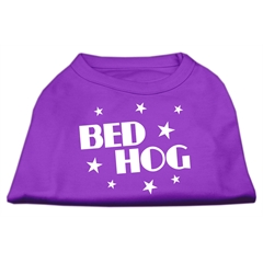 Mirage Pet Products Bed Hog Screen Printed Shirt  Purple Lg (14)