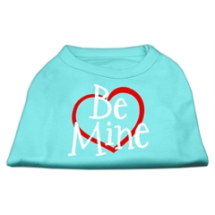 Mirage Pet Products Be Mine Screen Print Shirt Aqua Med (12)