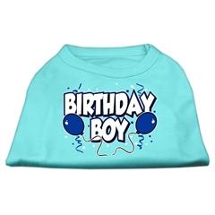 Mirage Pet Products Birthday Boy Screen Print Shirts Aqua XS (8)