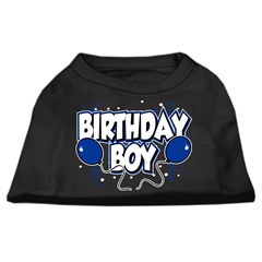 Mirage Pet Products Birthday Boy Screen Print Shirts Black  XXL (18)
