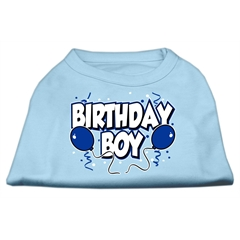 Mirage Pet Products Birthday Boy Screen Print Shirts Baby Blue XXXL (20)