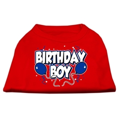 Mirage Pet Products Birthday Boy Screen Print Shirts Red Sm (10)